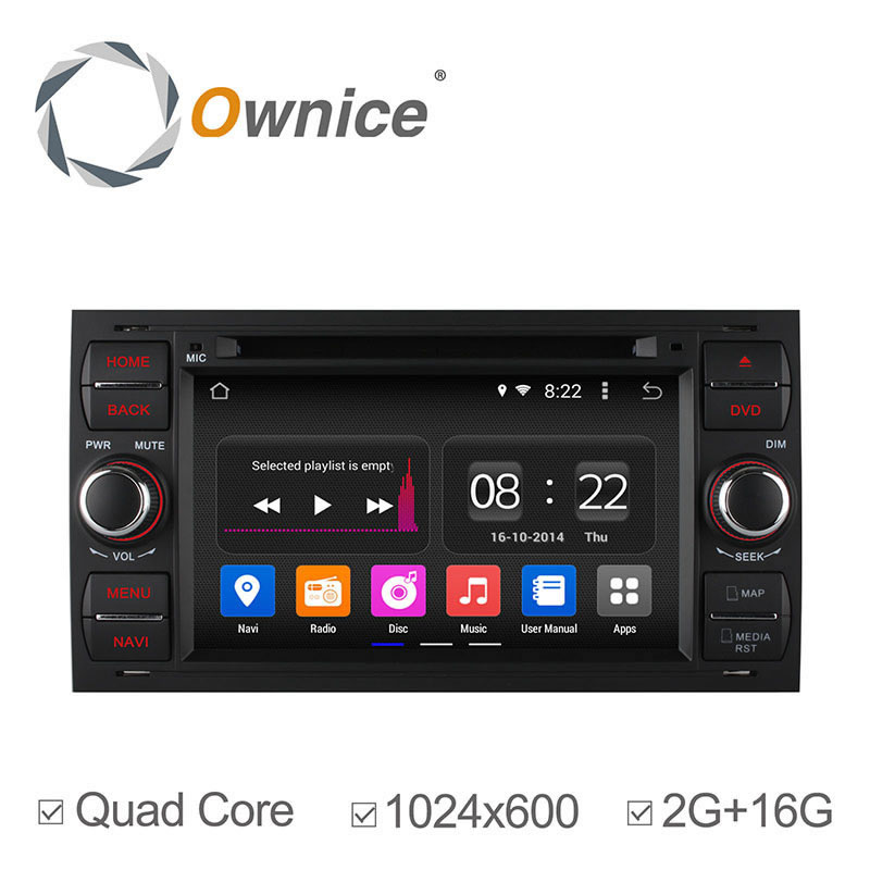 "1024*600 2G RAM 7"" Android 4.4 Car radio Stereo Audio Video Sat Navi head unit for Ford Focus Kuga Transit Wifi 3G BT Radio DVD(China (Mainland))"
