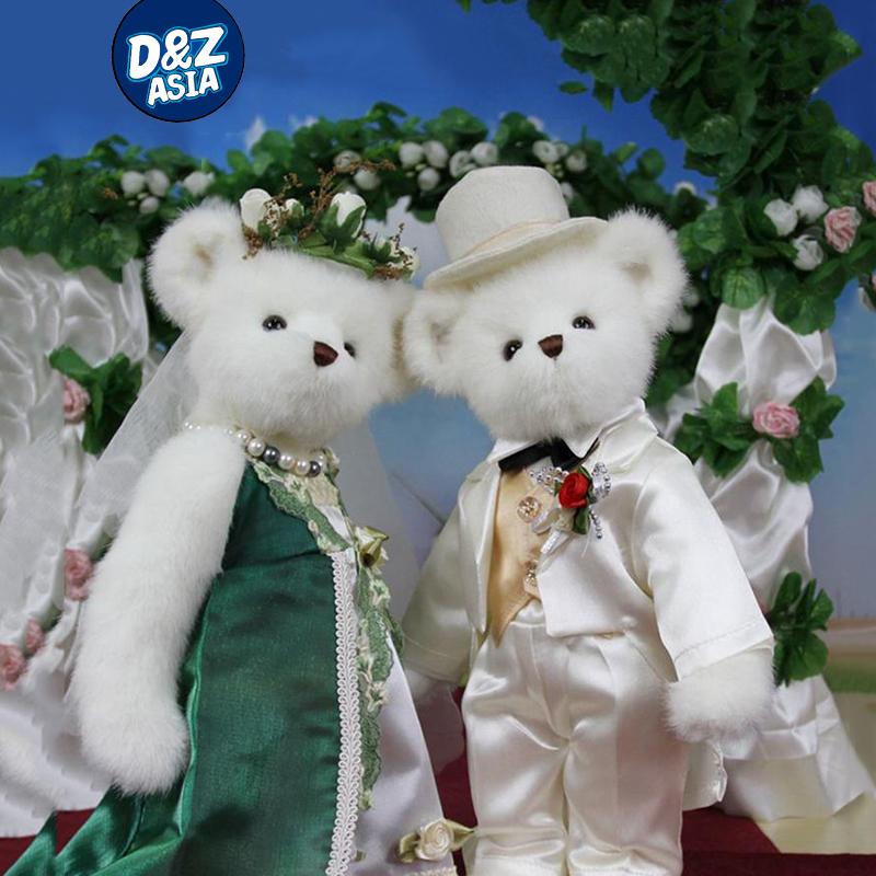 Gorgeous green dress joint wedding teddy bear couple wedding bear<br><br>Aliexpress