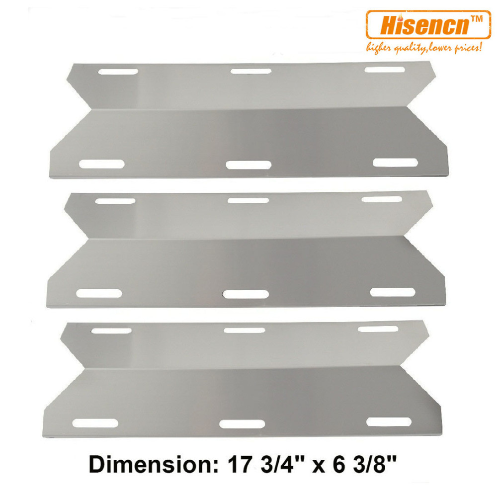 Jenn air stainless steel gas grill - Hisencn 91231 3pcs Pk 17 75 Bbq Stainless Steel Heat Tent Replacement For Jenn Air Nexgrill Sterling Forge Lowes Gas Grill