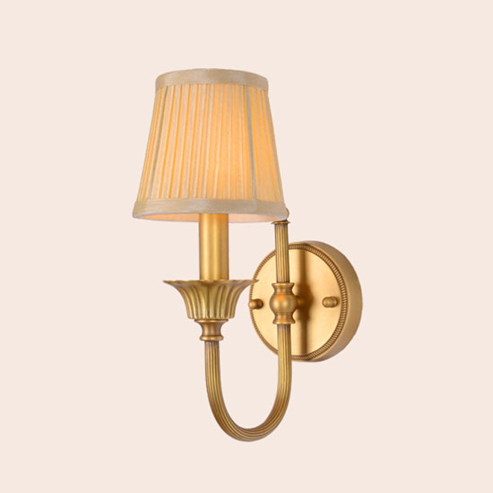 Wall Lamps Europe : Simple retro style living room lamp wall lamp European single head copper copper bronze wall ...