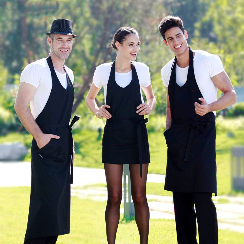 Kitchen aprons men and women fashion clothes for work cooking waiter apron coffee shop chef uniform delantal avental(China (Mainland))