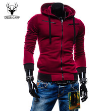 2015 Autumn Cardigan Men Hoodies Jacket Fashion Brand Hoodie Man Casual Slim hoody Sweatshirt Sportswear Zipper Hoodie(China (Mainland))