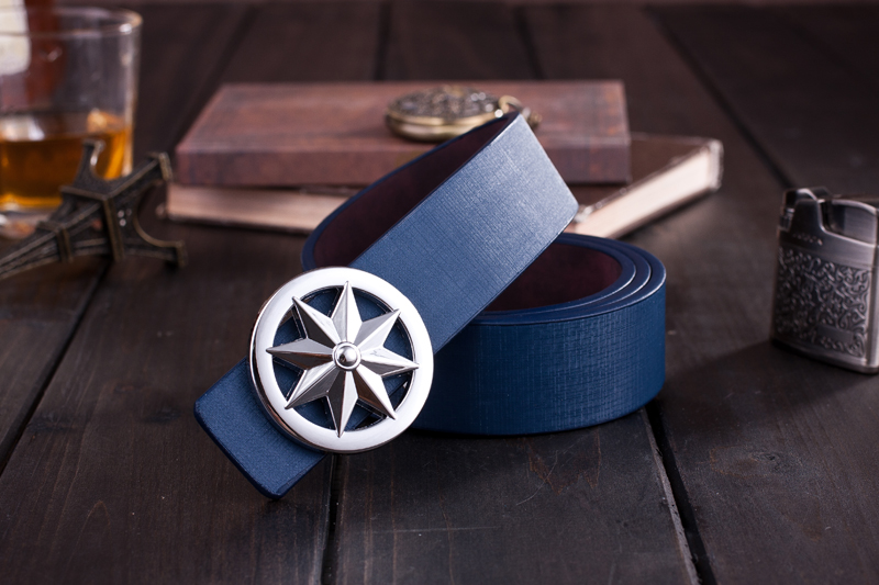Fashion casual leather belt ceinture mens belts luxury metal buckle high-end quality price - Belt Shop store
