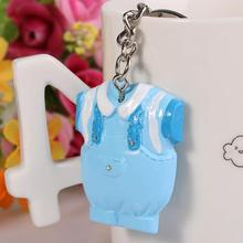 New Creative Blue Baby Boy Clothing Shape Key Chains Keyring Babies Shower Bridal Wedding Party Favors(China (Mainland))