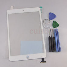 Best price Replacement Digitizer Touch Screen Replacement Glass for iPad mini 1 ipad mini 2 white+free Tools(China (Mainland))