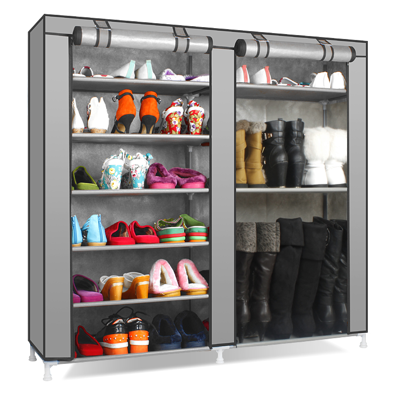 Free shipping Thickening double 40s-the boots simple shoe hanger shoe cabinet zipper shoe storage(China (Mainland))