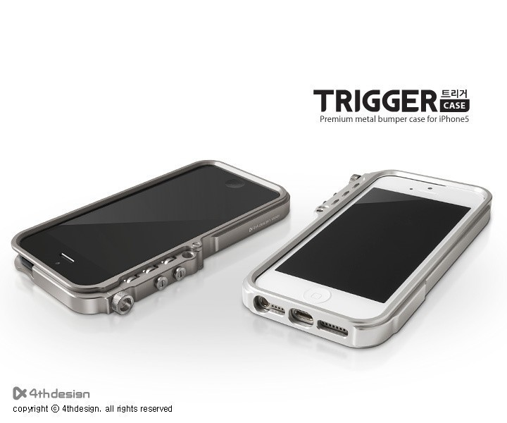 Trigger metal bumper iphone5 5s M2 4th design premium aluminum case tactical edition+Retail Package, - New Ray store