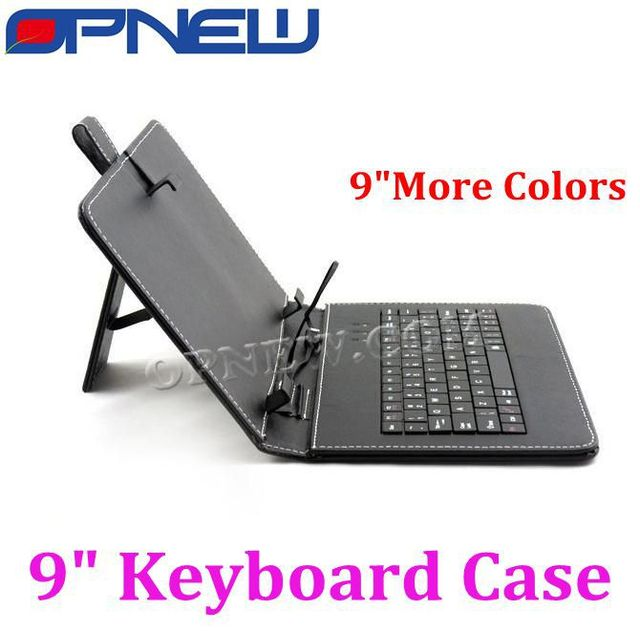 """9"""" Tablet Leather Case with USB Keyboard  for 9""""Tablet pc MID PDA tablet pc for Micro/USB/Mini USB port"""