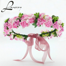 Buy Lanxxy 2016 New Women Wedding Bridal Hair Bands Flowers Hair Accessories Floral Crown Girls Headwear Fashion Gifts Headband for $5.04 in AliExpress store