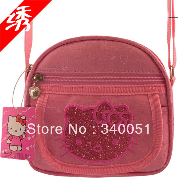 Hello Kitty Messenger Bag Cute Kitty Messenger shoulder bag for girls & women +Free Shipping(China (Mainland))