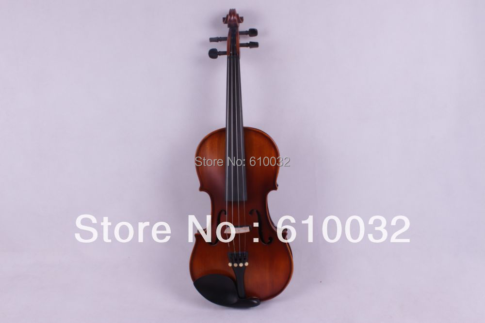 4/4 New 4 string Electric Acoustic Violin Solid Wood Nice Sound brown color(China (Mainland))