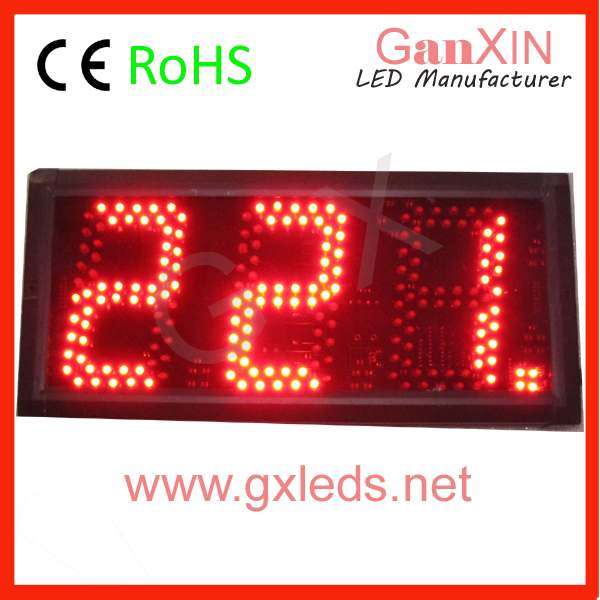 Hot product: remote control 5inch counter color optional custom led message  clock counter