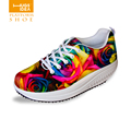 Beautiful Rose Loss Weight Women Shoes Casual Multicolor Swing Slim Shoes For Lady Female Mujer Platform