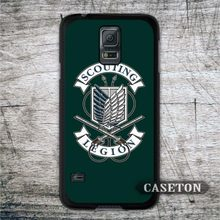 Vintage Attack On Titan Green Logo Case For Galaxy S6 Edge S5 S4 Active S3 mini Win A7 A5 A3 Note 4 3 Core 2 Ace 4 3