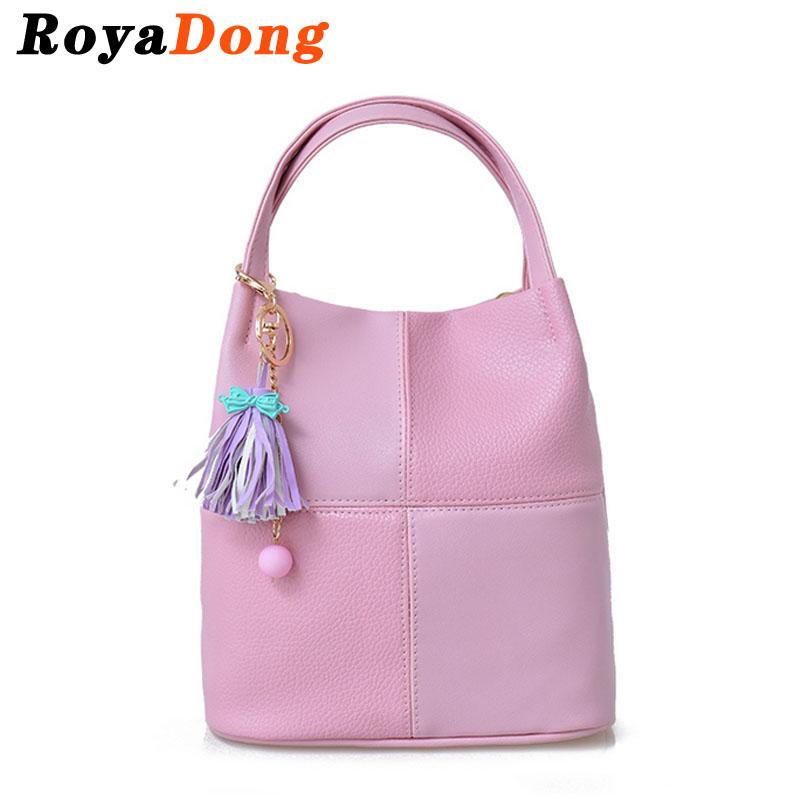 RoyaDong 2016 Women Leather Handbags Light Pink Bag Ladies Designer Handbags Shoulder Bags Lady Sac A Main Bolsa Feminina Bags(China (Mainland))