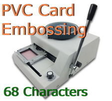 Stamping Machine MANUAL 68 LETTER Magnetic ID PVC Plastic Card membership Card Embosser Embossing Machine FAST SHIPPING(China (Mainland))