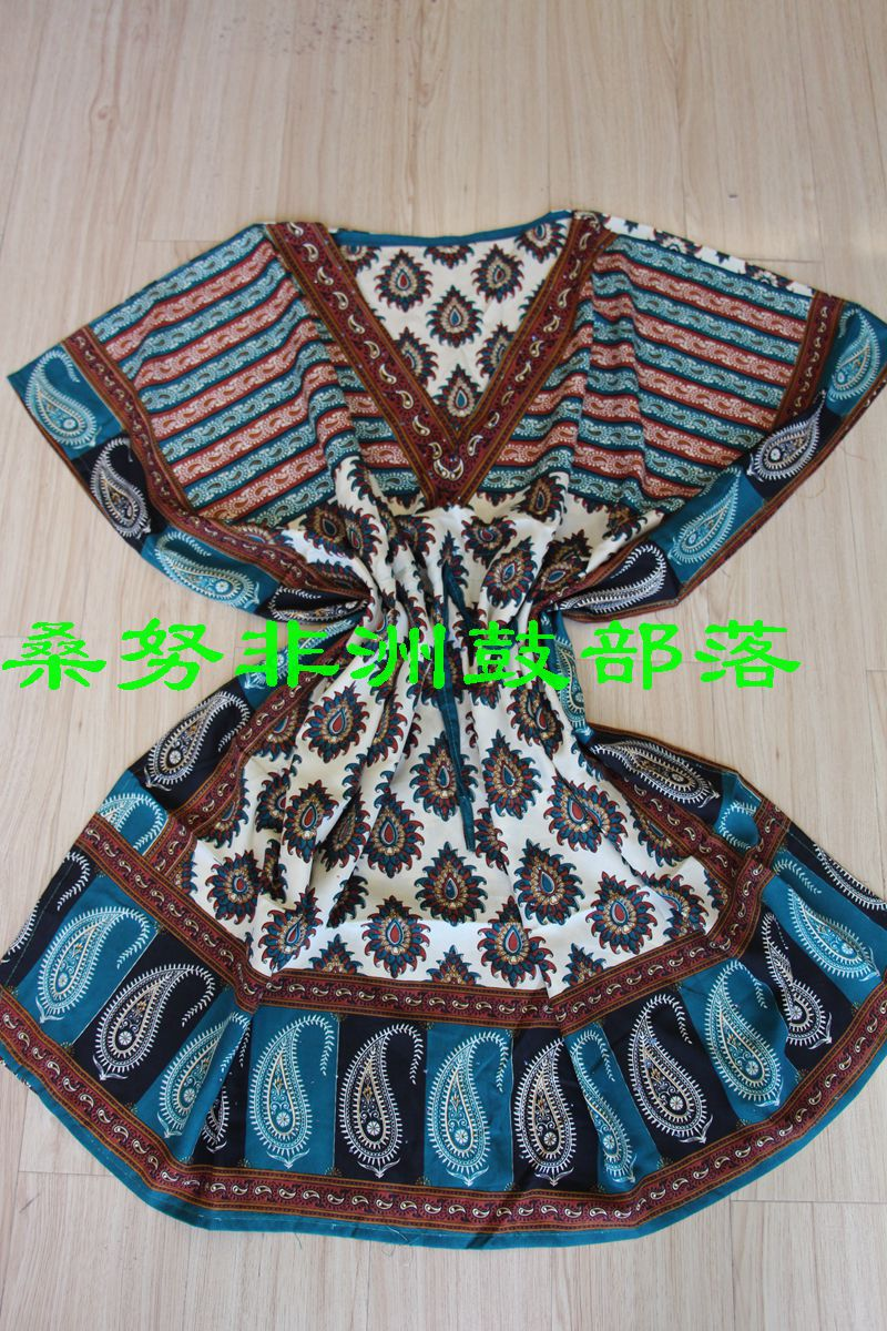 One size blue traditional african clothing african bazin riche dresses for woman(China (Mainland))