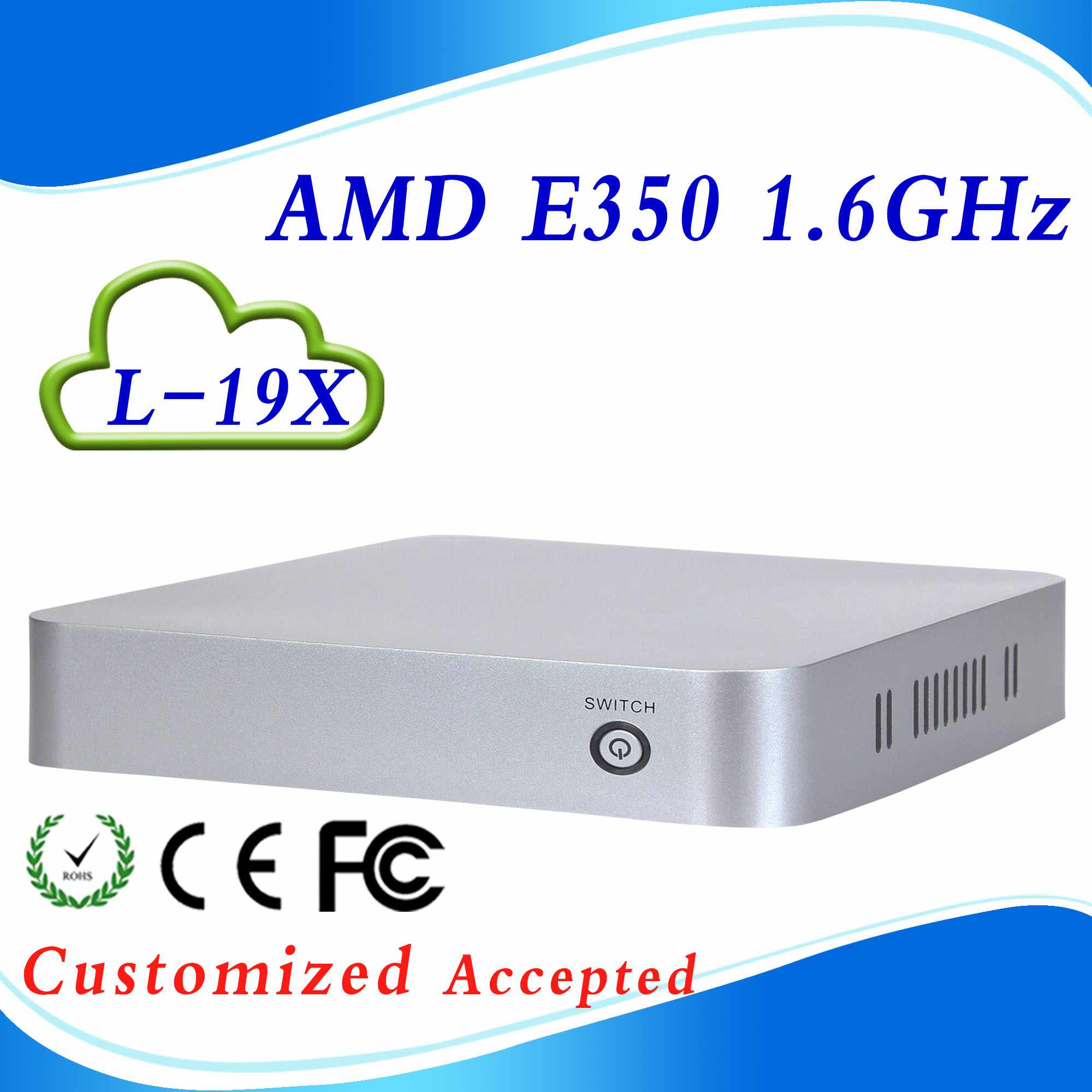 Highest cost effective computer case box pc net computer L19X E350 support wireless keyboard, mouse<br><br>Aliexpress