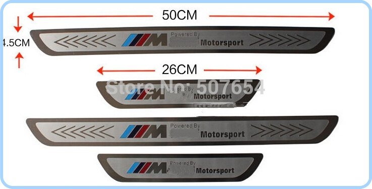 high quality 4pcs door sills footplate door sill scuff plate protection bar for bmw 1 3 5 series. Black Bedroom Furniture Sets. Home Design Ideas