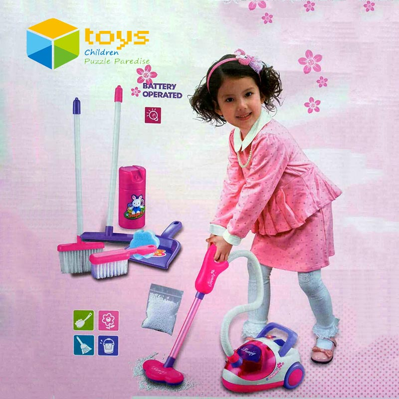 Pretend Play Simulation Appliances Children Toy Vacuum Cleaner Set Furniture Playset Educational Toys for Girls Kids Best Gifts(China (Mainland))