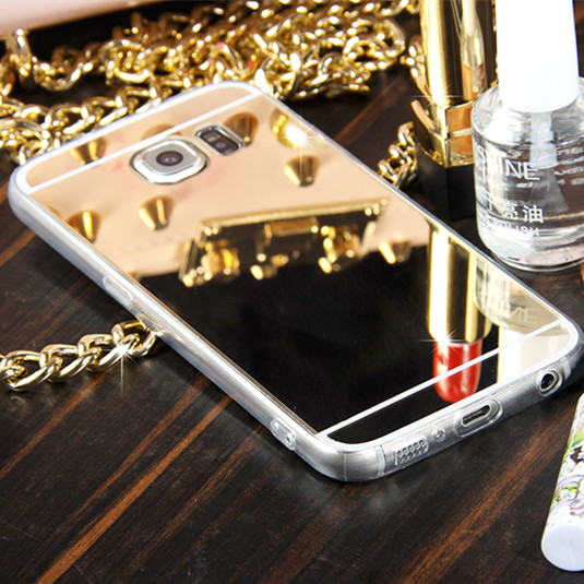 Luxury Gold Mirror Case Soft Back Cover For Samsung Galaxy S3 S4 S5 Mini S6 S7 edge Plus Note 3 4 5 A3 5 7 8 2015 2016 Case(China (Mainland))