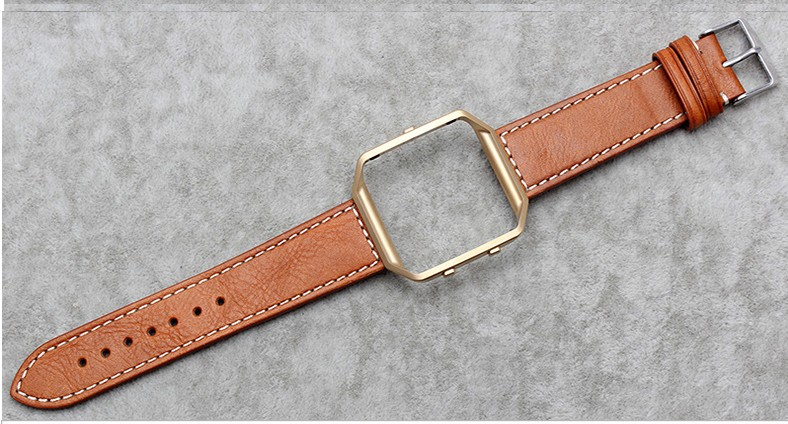 Laopijiang Fitbit blaze watchband fitbit Smart watches Leather Watchband metal shell