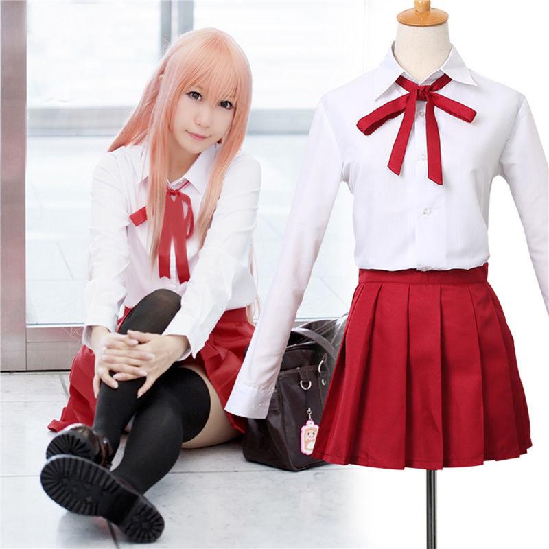 Himouto! Umaru-chan Umaru Doma School Uniform  tie + white shirt + socks + skirt Cosplay Costume Dress  Одежда и ак�е��уары<br><br><br>Aliexpress