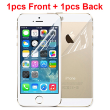 1pcs Front + 1pcs Back New LCD Clear Glossy Anti Glare HD Mobile Phone Screen Protector For iphone 5 5s 5c Protective Film