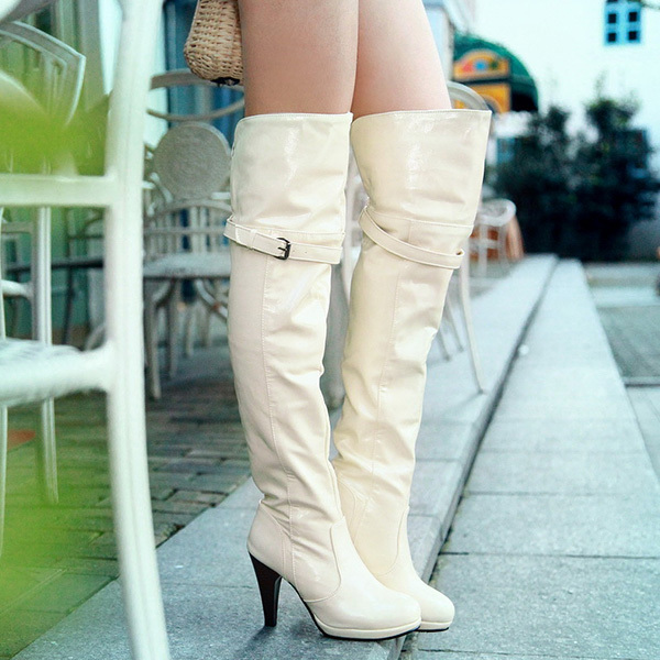 2014 new winter fashion sexy Fine high-heeled women's slim woman thigh boots over the knee boots Plus Size 34-43 XY219