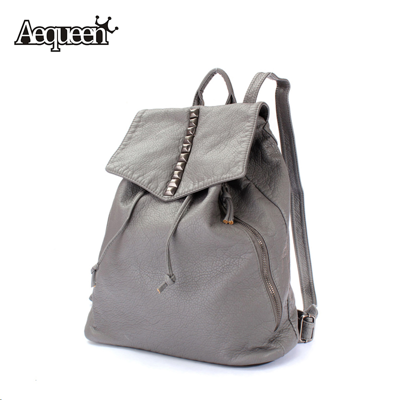 Women Leather Backpacks Shoulder Bags Casual Preppy Style Lady College Student Schoolbags Solid Summer Girls Pack Mochilas(China (Mainland))