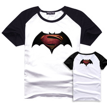 Movie BVS Print Casual T-shirt Batman Summer Cotton T-shirts  Superman Short Sleeve Homme Loose Tops DC Fans Tees