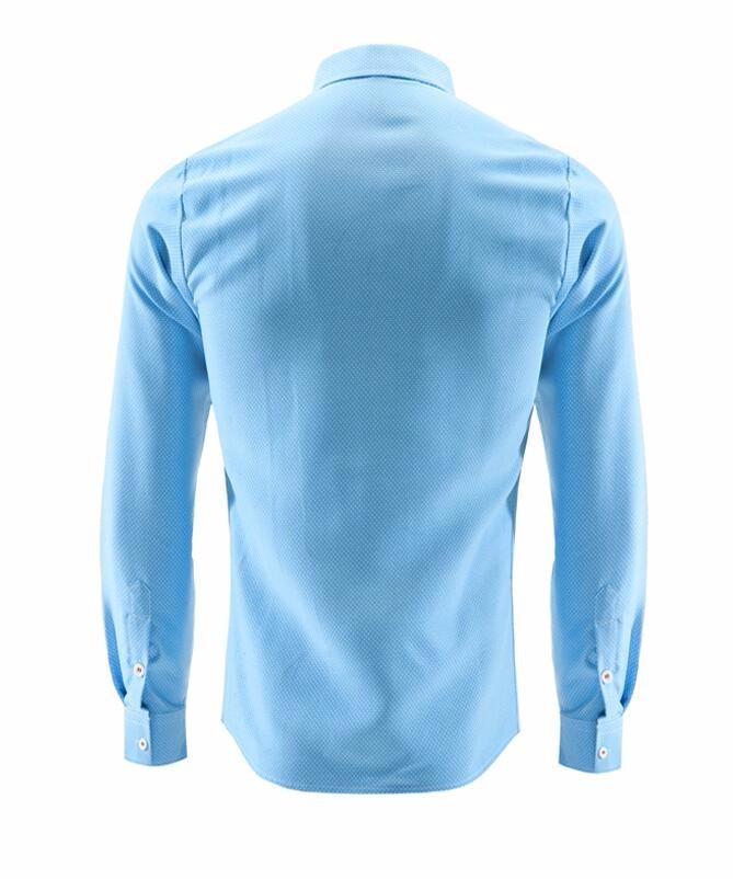Мужская рубашка 2016 Slim Fit Hemden Slim Camisa Masculina