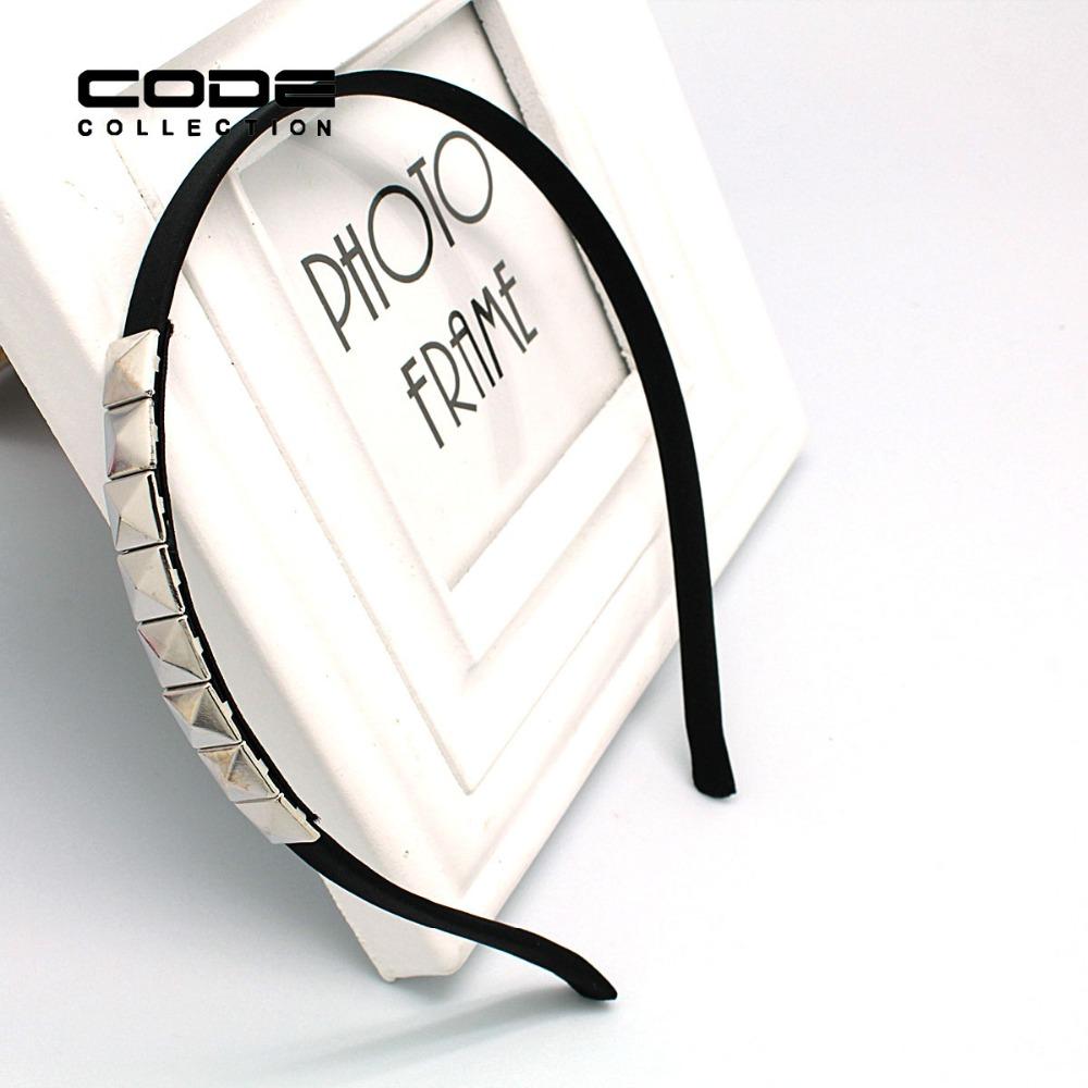 High Quality Black Adult Hairbands Square Geometric Head Band Simple Fashion Hair Accessory Ribbon Wraped Women Girl Head Hoop(China (Mainland))
