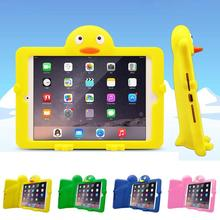 Kids Portable 3D Penguin Soft Silicon Shockproof Drop Resistance Hand-held Tablet PC For i Pad Mini 4 2 3 Back Cover Case A45(China (Mainland))
