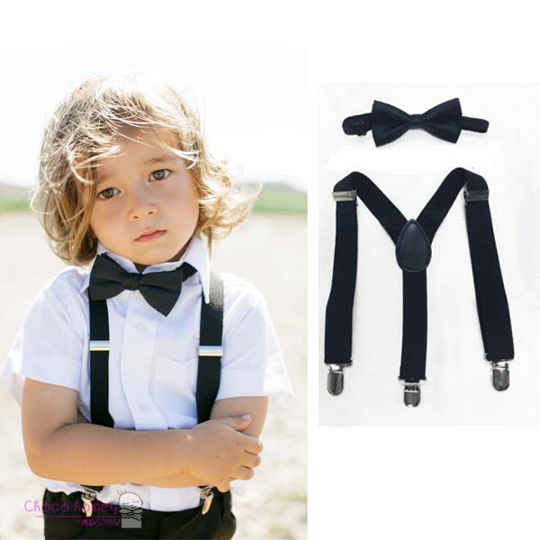 TopTie Kids Suspenders Boy Elastic Adjustable 3/4