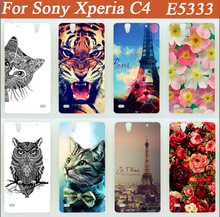 Buy 14 patterns colored Hard pc Case Sony Xperia C4 Dual E5333 E5303 E5306 E5353 E5343 painted tiger lion owl flowers Case for $1.33 in AliExpress store