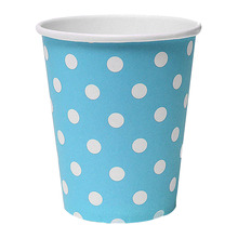 5 pcs/lot 50pcs Polka Dot Paper Paper Cups Case Disposable Tableware Wedding Birthday Decorations Blue(China (Mainland))