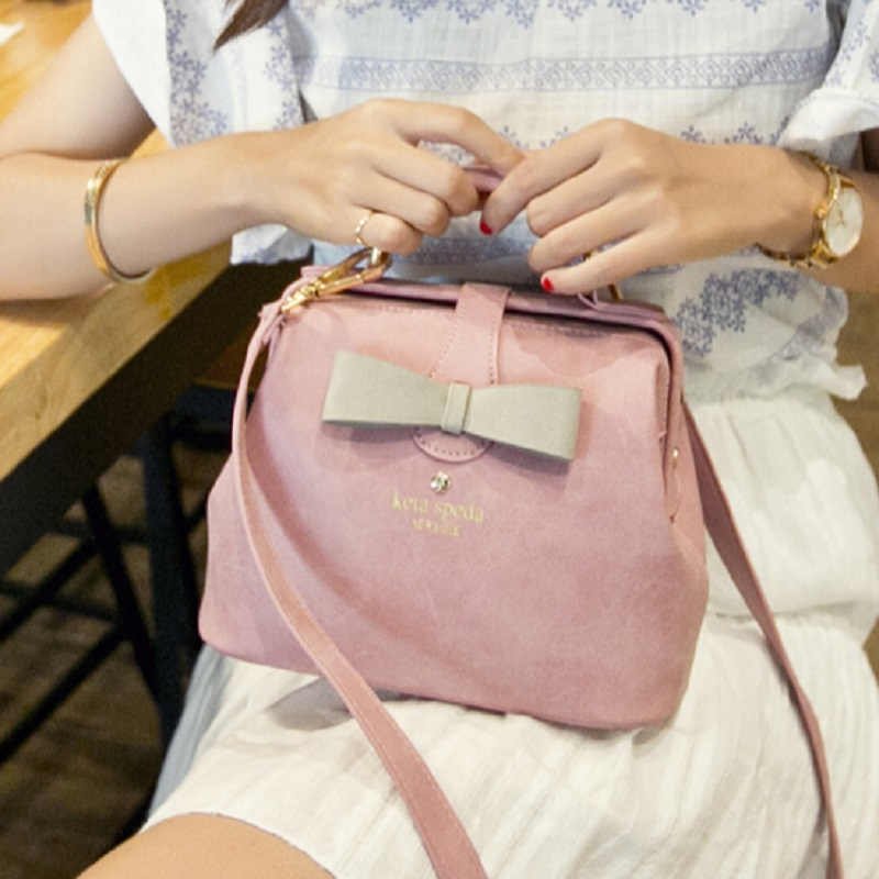 2015 New Arrival Lady Vintage Bag Handbag PU Leather Pink Cute Small Messenger Bag Female Shoulder Bag with Bow Drop Shipping<br><br>Aliexpress