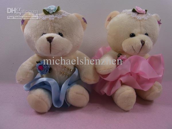 Wholesale - Mixed Color 6~7 High Quality Plush Stuffed Animal - Diamond Teddy Bear Doll Toys<br><br>Aliexpress