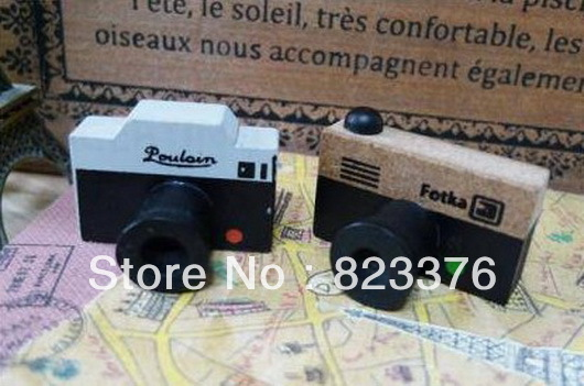 DHL Free shipping 300pcs NEW Small vintage LOMO Camera wood stamp / Decorative / DIY funny work/great gift(China (Mainland))