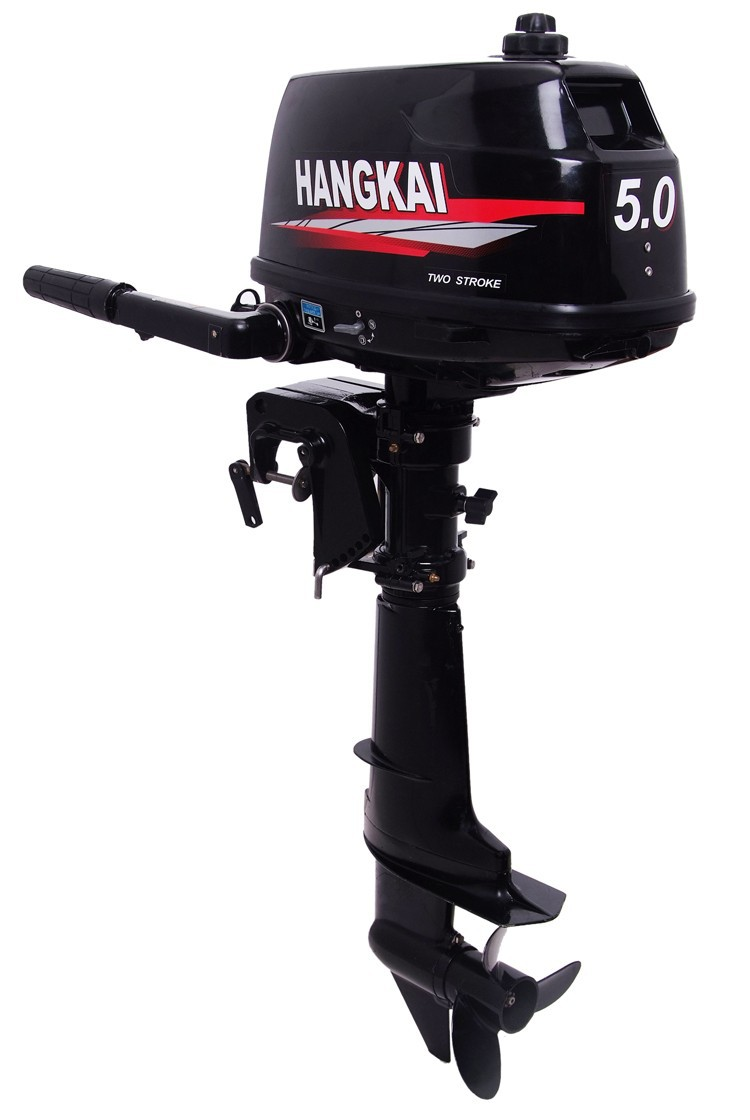 Best Hangkai 5HP 2 stroke fishing boat outboard engine, outboard boat motor price,inflatable boat outboard motor water cooled(China (Mainland))