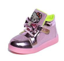Free shipping the new children's sports shoes for casual sneakers in han edition bright drill the bowknot of the girls 38139