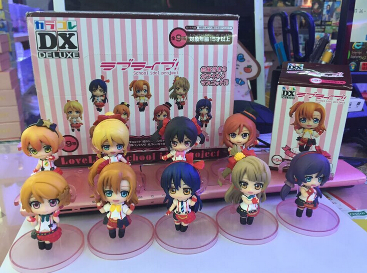 10pcs/set Anime Love Live School Idol Project Action Figures PVC brinquedos Collection Figures toys for christmas gift(China (Mainland))