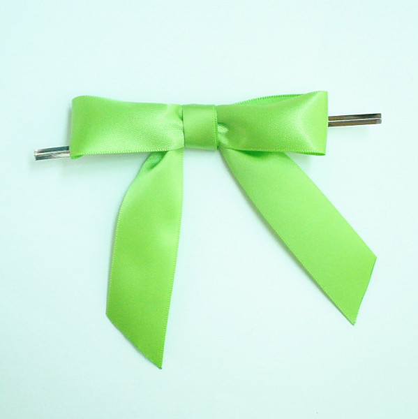 Free Shipping 600pcs/lot Apple Green Pre-Tied Satin Bows for Candy Gift PackingОдежда и ак�е��уары<br><br><br>Aliexpress