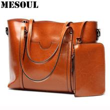Buy Women Casual Tote Genuine Leather Handbag Bag Fashion Vintage Large Shopping Bag Designer Crossbody Bags Big Shoulder Bag Female for $49.42 in AliExpress store