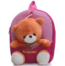 New 2015 Children School Bags Cartoon Bear Backpack For Baby Mochila Infantil Retail 1PC ZZ3056