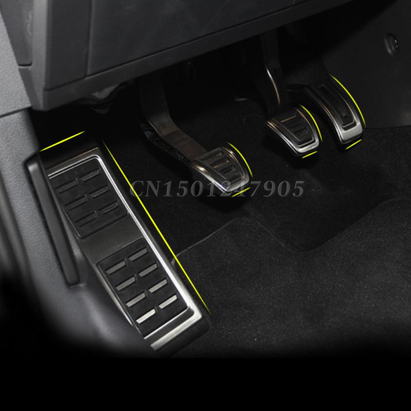 Car Fuel Brake Foot Rest Pedals Plate Cover auto accessories Volkswagen GOLF 7 MK7 /Skoda Octavia A7 - ANN Premier store