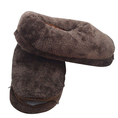 Unisex Winter Warmer Indoor Heating Shoes Foot Warmer USB Heated Plush Slippers Brown Color Fit Size 35-42 for Men's/Women's(China (Mainland))