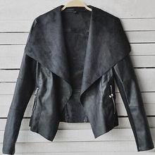 Fashion Vintage Women Slim PU Leather Jacket Biker Motorcycle Short Coat Jacket(China (Mainland))