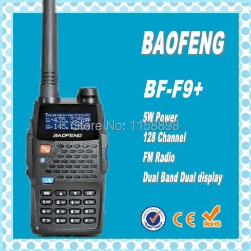 DHL freeshipping +baofeng bf-f9+ Dual band 5W power VHF UHF Military Grade Portable radio long range Walkie Talkie 10km(China (Mainland))